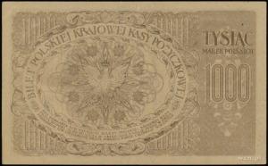 1.000 marek polskich 17.05.1919, seria B, numeracja 160...