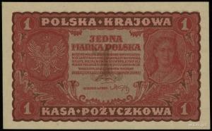 1 marka polska 23.08.1919, seria I-V, numeracja 727366,...