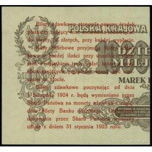 5 groszy 28.04.1924, nadruk na prawej części banknotu 1...