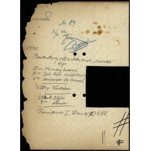 papier (tzw. gramówka) ze znakiem wodnym z zapisaną na ...