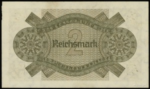2 marki, seria V, numeracja 4155844, na dole po prawej ...
