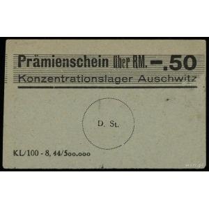 Konzentrationslager Auschwitz, bon na 0.50 marki, bez n...