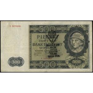 500 złotych 1.03.1940, seria A, numeracja 5370245, po o...