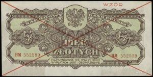5 złotych 1944, w klauzuli OBOWIĄZKOWE, obustronny czer...