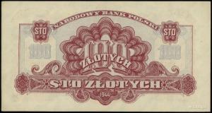 100 złotych 1944, w klauzuli OBOWIĄZKOWE, seria Au, num...