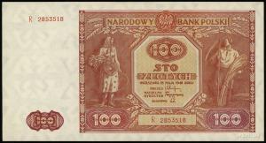 100 złotych 15.05.1946, seria R, numeracja 2853518, Luc...
