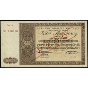 bilet skarbowy 50.000 złotych 10.11.1945, emisja I, ser...