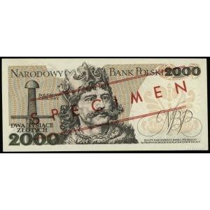 """2.000 złotych 1.06.1979, czerwone ukośne """"WZÓR"""" / """"SPEC..."""