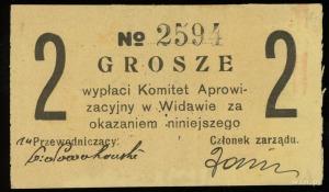 Widawa, Komitet Aprowizacyjny, 2, 4, 6 i 10 groszy (ok....
