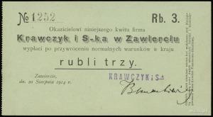 Zawiercie, Krawczyk i S-ka w Zawierciu, 50 kopiejek i 3...