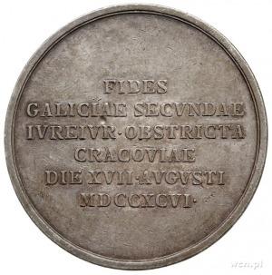 medal sygnowany J.N.Wirt, wybity w 1796 r., z okazji pr...