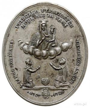 medalik owalny sygnowany MK (Mieczysław Kurnatowski) wy...