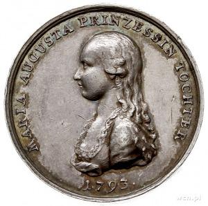 medal z 1793 r., sygnowany HOE(CKNER), wybity z okazji ...