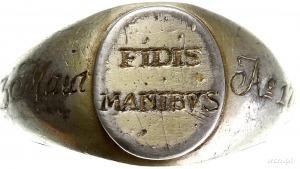 sygnet patriotyczny z napisem D 3 Maia FIDES MANIBVS Ao...