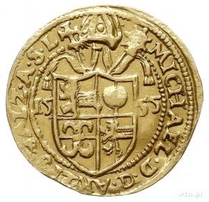 Michał von Kuenburg 1554-1560, dukat 1555, złoto 3.35 g...