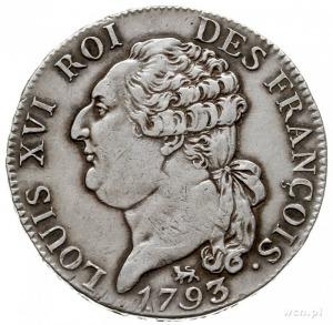 Rządy Konstytuanty i Konwentu 1789-1793, 1/2 écu (3 liv...