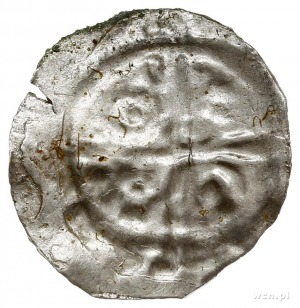 denar jednostronny typu princes polonie, Krzyż, w polac...