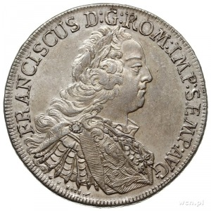 talar 1756 I.C.B., z tytulaturą i portretem Franciszka ...