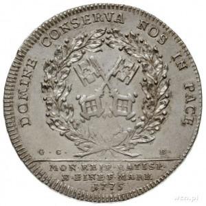 talar 1775 G.C.B., z tytulaturą Józefa II, srebro 28.16...