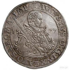 August 1553-1586, talar 1577 HB, Drezno, srebro 29.11 g...