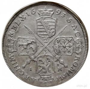 Jan Jerzy IV 1691-1694, gulden 1693 IK, Drezno, Kahnt 6...
