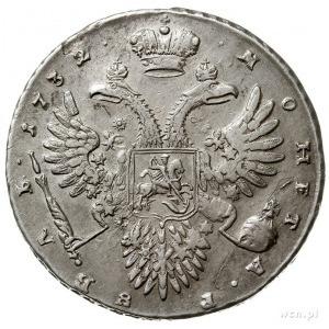 rubel 1732, Kadashevski Dvor (Moskwa), srebro 25.25 g, ...