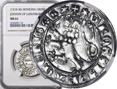 Czechy, Jan I Luksemburski 1310-1346, Grosz Praski, wyśmienity