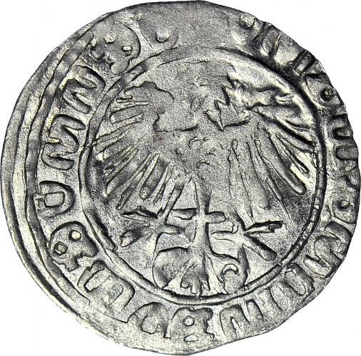 RR-, Zygmunt II August, Półgrosz, fantazyjne fałszerstwo w dobrym srebrze