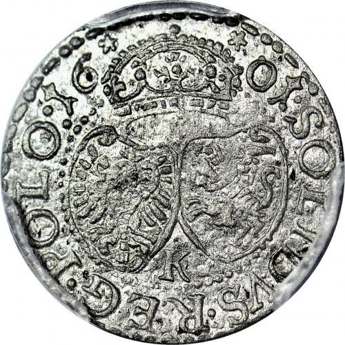 R-, Zygmunt III Waza, Szeląg 1601, Kraków, menniczy