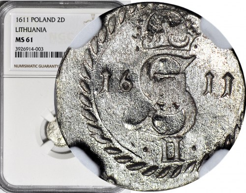 Zygmunt III Waza, Dwudenar 1611, Wilno, T.2mk, menniczy