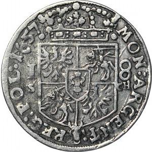 Jan II Kazimierz, Ort Kraków 1657 SCH, ze zbioru CZAPSKIEGO