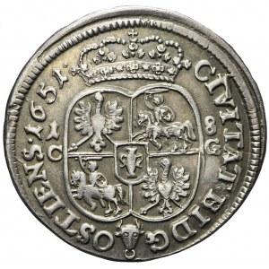 Jan Kazimierz, Ort 1651, Bydgoszcz, menniczy