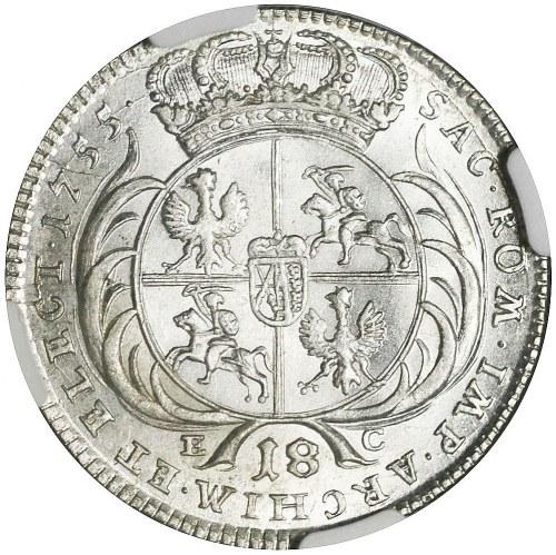 August III Sas, Ort 1755, Lipsk, rzadki
