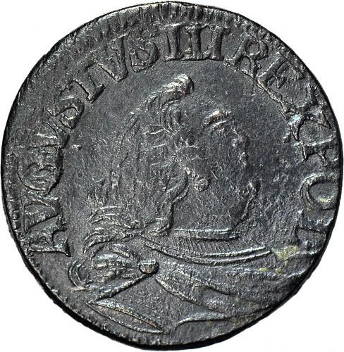 R-, August III Sas, Grosz 1758 - cyfra 3