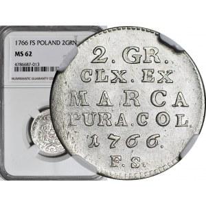 Stanisław A. Poniatowski, Półzłotek 1766 F.S, menniczy