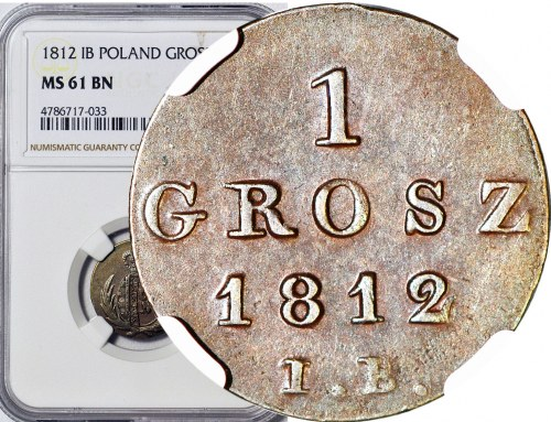 Księstwo Warszawskie, Grosz 1812 IB, menniczy