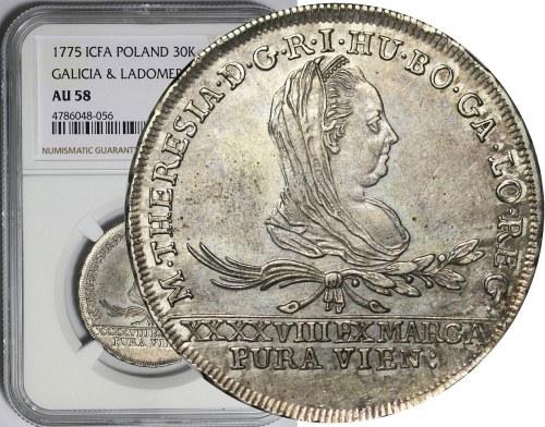 Księstwo Oświęcimsko-Zatorskie, Maria Teresa, 30 krajcarów 1775, Wiedeń, R2