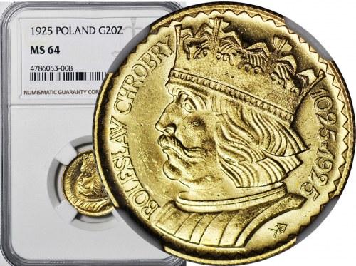 20 złotych 1925, Bolesław Chrobry, menniczy