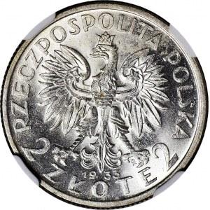 2 złote 1933, Głowa, WYŚMIENITE