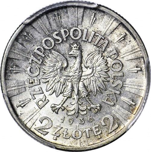 2 złote 1936, Piłsudski, menniczy, RZADKI