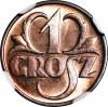 1 grosz 1939, menniczy, kolor RD