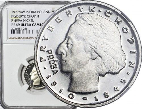 2000 złotych 1977, Fryderyk Chopin, PRÓBA dla złota, nikiel