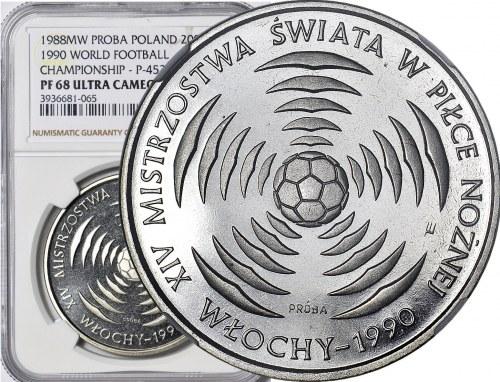 200 złotych 1988, Włochy 1990, PRÓBA, nikiel