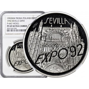 200.000 złotych 1991, Sevilla EXPO 92, PRÓBA, nikiel