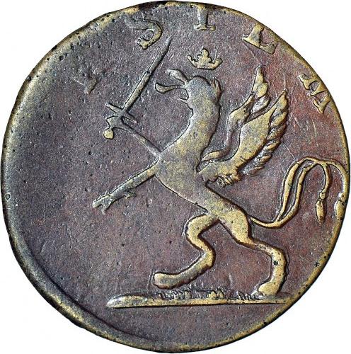 R-, Pomorze, Gustaw IV Adolf, 3 fenigi 1806, piękne