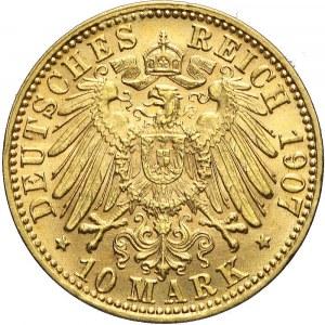Niemcy, Badenia, 10 marek 1907 G, Fryderyk I