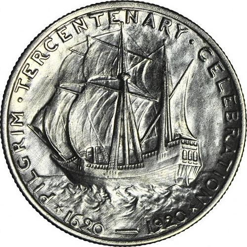 USA, 50 centów 1920, Pilgrim Tercentenary