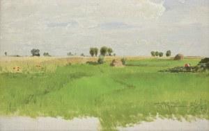 Kochanowski Roman, PEJZAŻ Z MAKAMI W ZBOŻU, 10 VI 1890