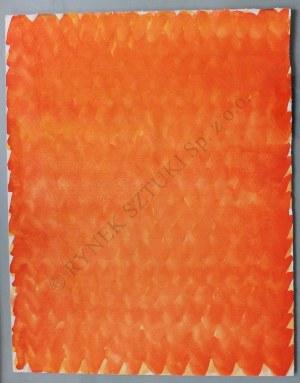Stefan Gierowski, Kompozycja pomarańczowa (1990)