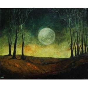 Krystyna Liberska (1926-2010), Krajobraz z księżycem (1986)
